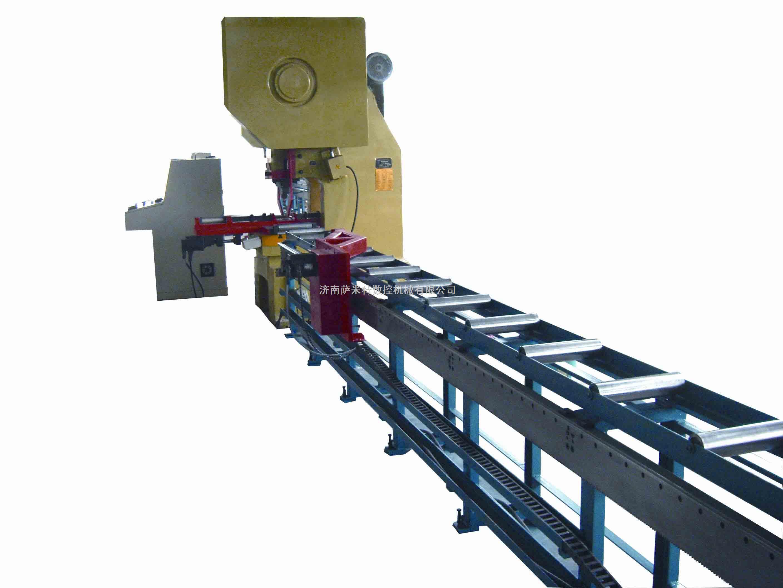 简易数控角钢冲孔生产线